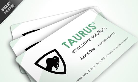 Vista previa de Taurus, tarjeta de negocios.