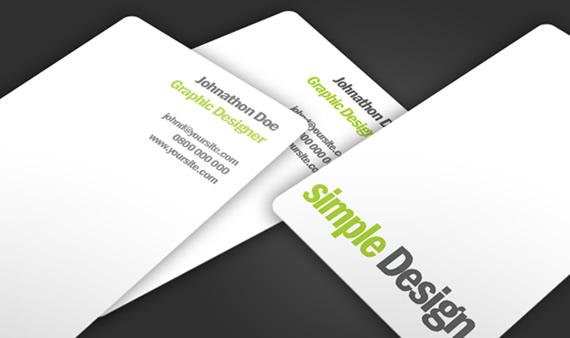 Vista previa de simple design, tarjeta de negocios