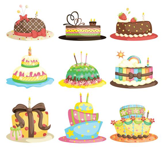 Vista previa de tortas de felicitaciones vectorizadas