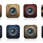 Iconos de cámaras en PSD