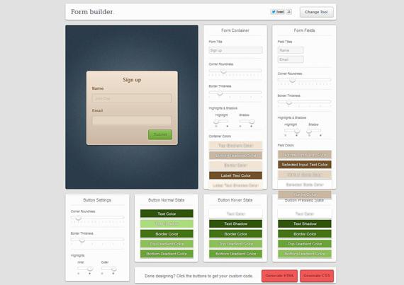 Generador de formularios online