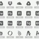 Iconos tipográficos de aplicaciones populares