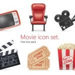 Iconos de cine en formato PNG