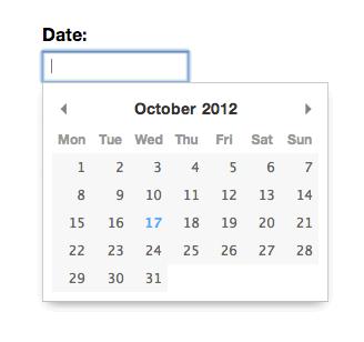 selector de fechas solo JavaScript