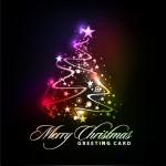 Arboles de Navidad luminosos en formato vector