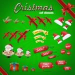 Vista previa de elementos web de navidad.