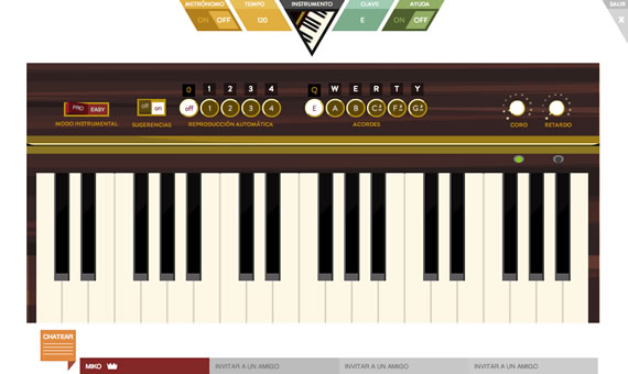 Vista previa de teclado en JAM with Chrome