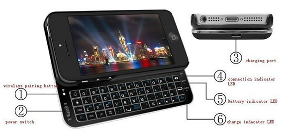 Teclado Bluetooth para iPhone 5