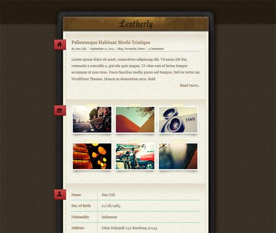 Theme para portfolio inspirado en el cuero