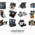 Colección de cámaras Polaroid en PSD