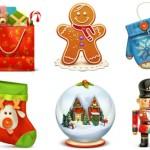Increíble set de íconos para navidad en 3D