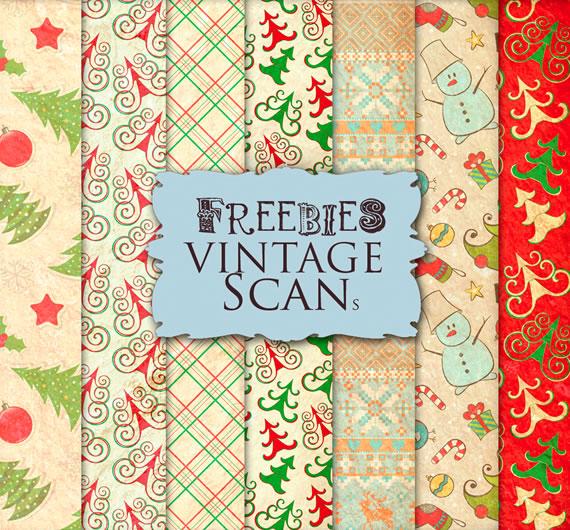 Vista previa de texturas con motivos navideños