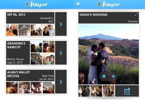 Crea y comparte collages en iPhone: Flayvr