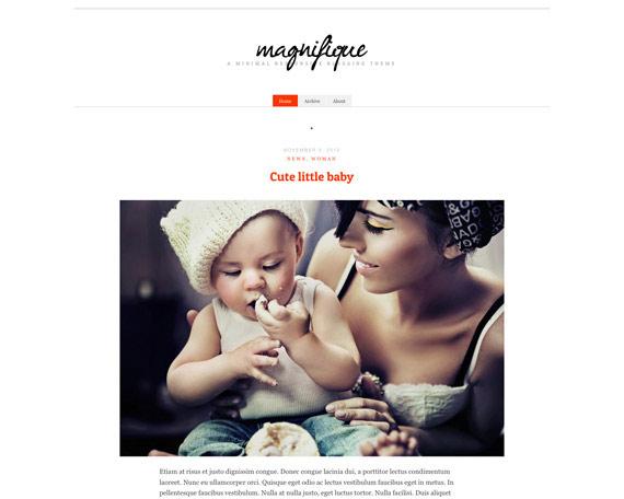 Magnifique: Theme para blog personal en WordPress
