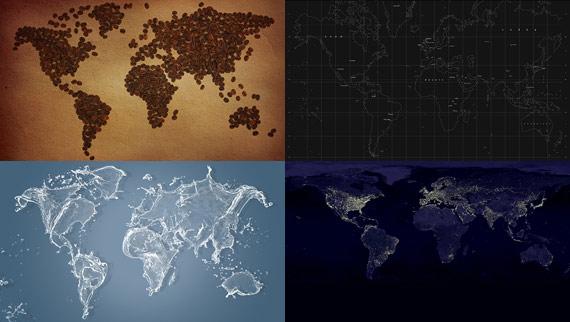 Mapas mundiales en alta resolución