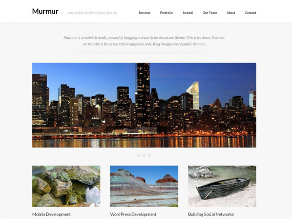 Murmur: Completo theme responsive para WordPress