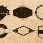 Badges originales estilo vintage con texturas incluídas