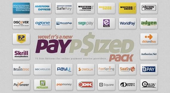 botones con los servicios de pagos mas populares