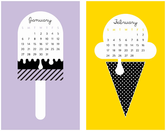 Sweet New Year Calendars 2013