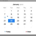 Selector de fechas adaptable (responsive) con jQuery