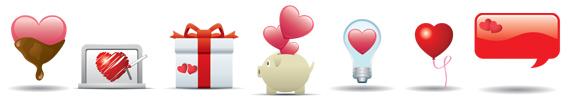 Iconos de San Valentin gratuitos
