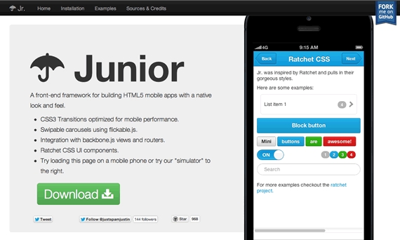 junior crear aplicaciones moviles con HTML5