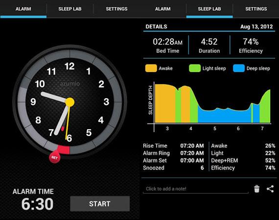 Registrar ciclos de sueño desde nuestro móvil con Sleep Time