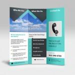 Diseño de folleto en tríptico para imprimir