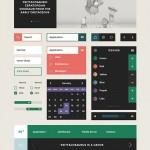 Kit UI con elementos planos