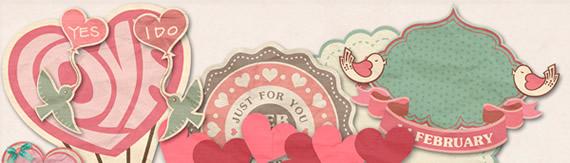 Scrapbooking set de San Valentín