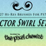 Brushes decorativos con swirls para Photoshop