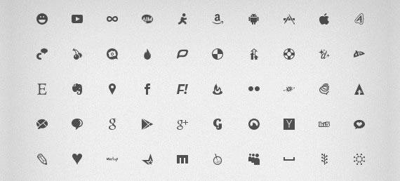 Iconos sociales en formato fuente