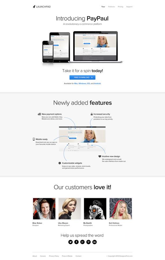 Launchpad: plantilla para web