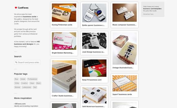 Galería de tarjetas personales
