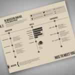 Currículum Vitae en formato PSD con estilo moderno