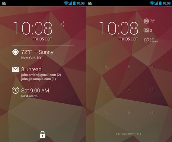 Pantalla de bloqueo para Android