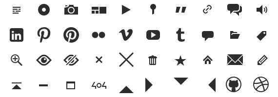 iconos en formato webfont