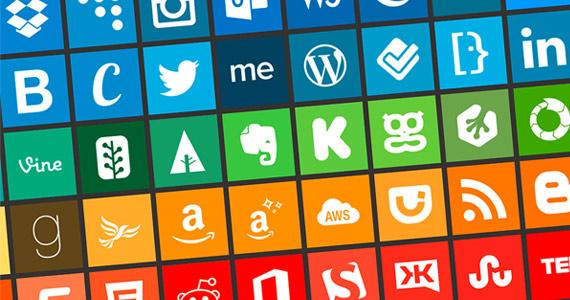Sitio Del Día Picons Iconos De Redes Sociales Para: Menu Slider Lateral Con JQuery