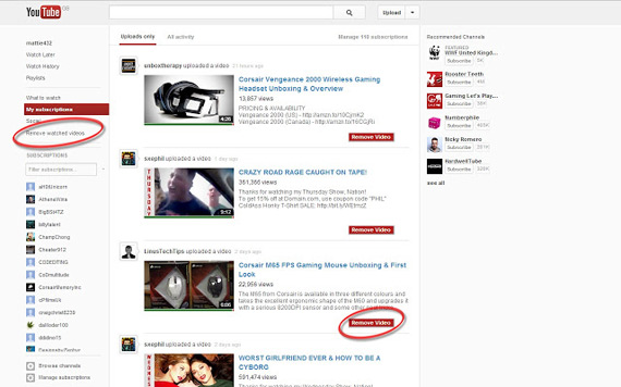 Personalizar YouTube