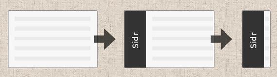 menu slider lateral
