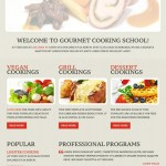 Plantilla web HTML para gastronomía