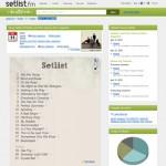 Setlists de conciertos