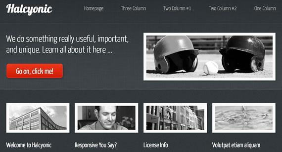 Halcyonic plantilla web HTML