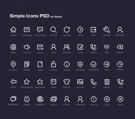 Iconos con líneas incompletas