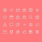 Iconos minimalistas