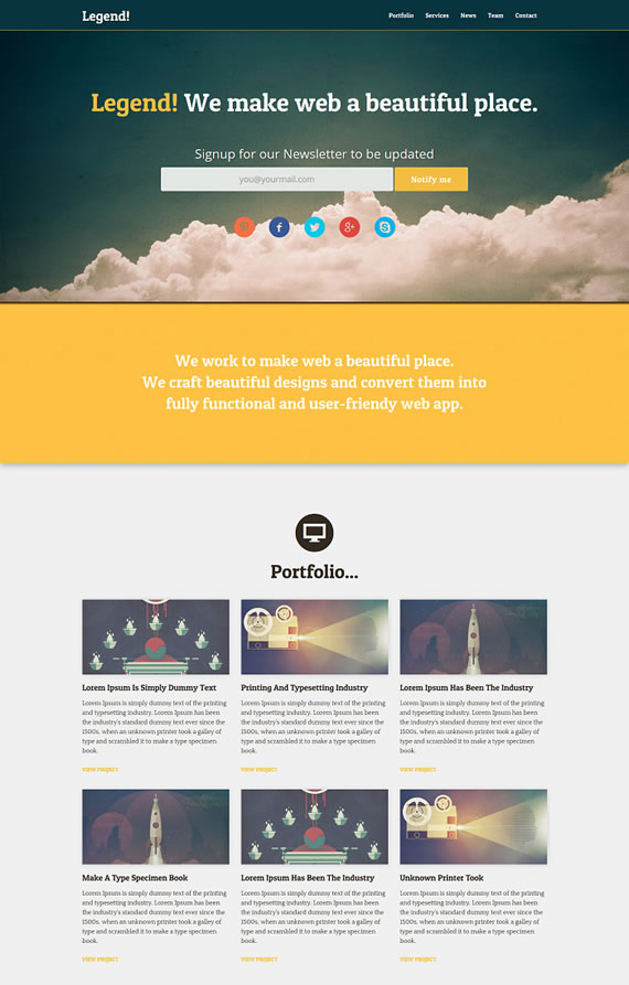 Plantilla HTML responsive
