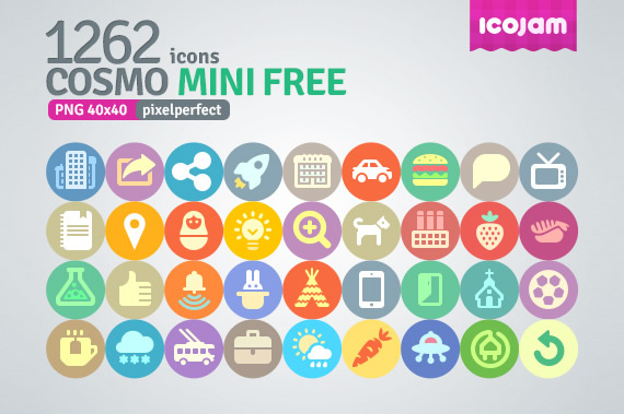 1200 iconos planos