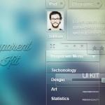 Elementos UI Transparentes en PSD
