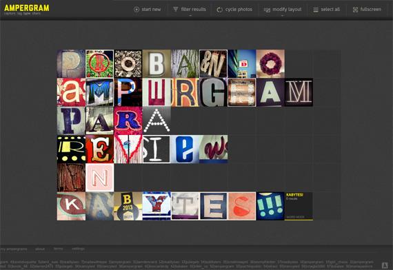 Composiciones tipográficas desde Instagram