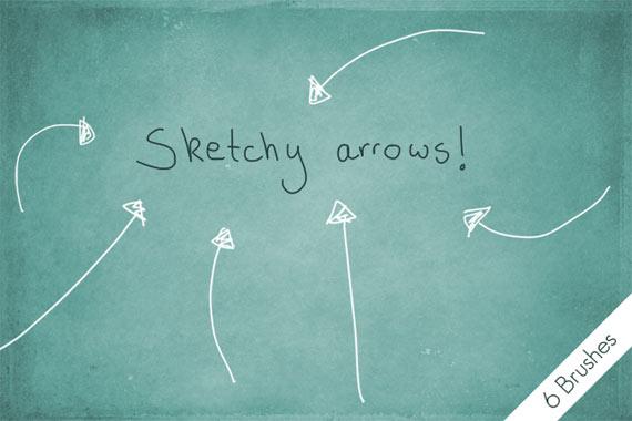 Brushes de flechas dibujadas gratuitos